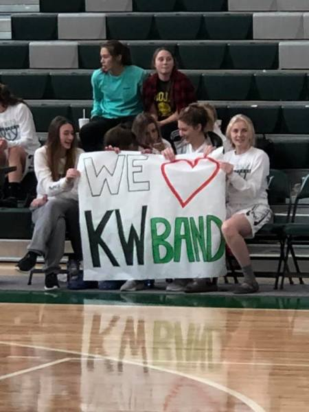 Girls Basketball loves the band